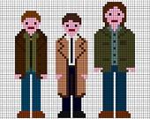 Supernatural Dean, Castiel, Sam cross stitch