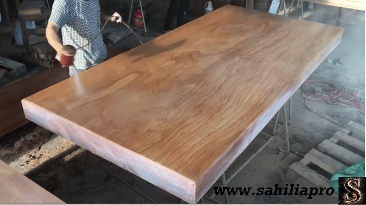 فكرة أعمال نجارة إبداعية مذهلة كيفية بناء طاولة عملاقة من خشب صلب Decor Home Decor Dining Table