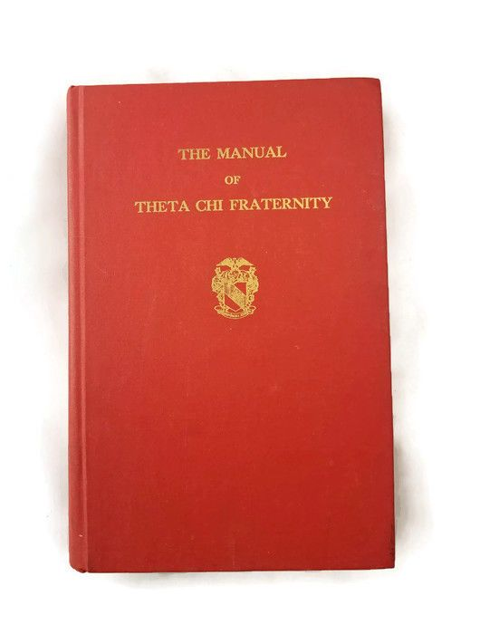 Vintage 1970 Manual of Theta Chi Fraternity Trenton New Jersey Hardcover Book OX