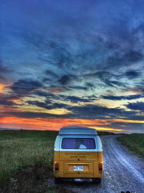 The sun set over my last day in Newfoundland • #tstMoments • #tstCanada w @NLtweets @Explore Canada • #ExploreCanada #ExploreNL #Westfalia • #SocialTravel #Travel #Canada #Newfoundland