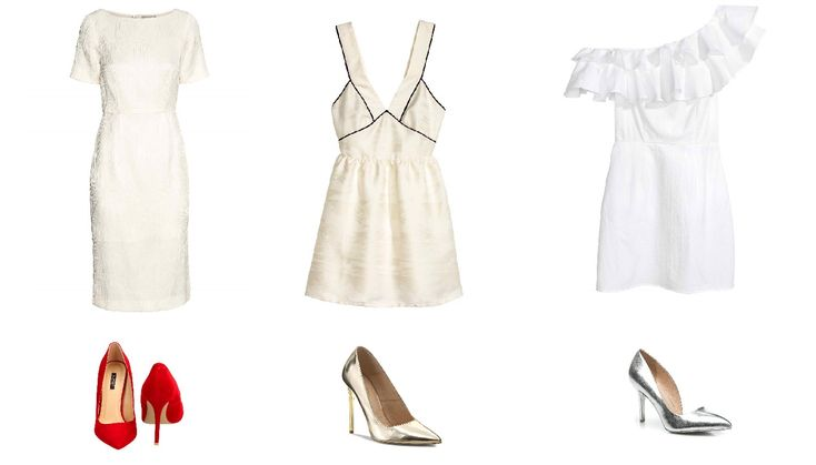 Little white dress outfit. See more on blog Minimalistic Girl.