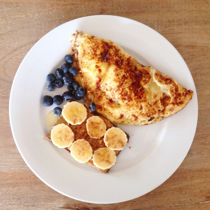 Breakfast sweet omelet  great for a healthy breakfast