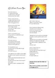 English worksheet: Disney Song