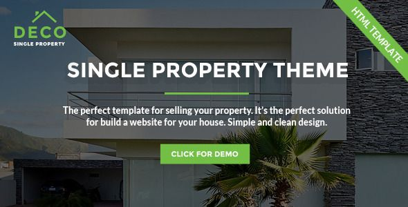 Deco House - Single Property Real Estate HTML Template Property - home for sale template