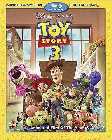 Toy Story 3 (Four-Disc Blu-ray/DVD Combo + Digital Copy) (Disney) (Blu-ray) (USED) BLU-RAY Movie