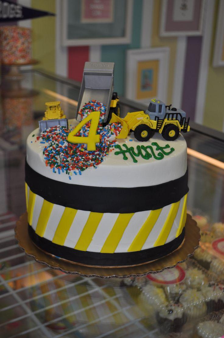Digger 4th Birthday Cake Bulldozer Dump Truck Tonka Trucks