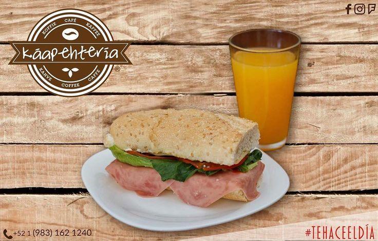 BUEN DÍA! El #KáapehCOMBO #desayuno de hoy está preparado para que tengas un día nutritivo y así disfrutes este grandioso jueves al máximo!  Pedidos al: (983) 162 1240  #Promociones #KáapehCOMBO #Desayunos #Káapehtear #Káapehtería #TeHaceElDía #ConsumeLocal #Cafetería #Café #Alimentos #Postres #Pasteles #Panes #Cancún #Chetumal #México
