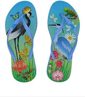 3f481cfe080eae Rhino Flops Women s Crane Animal Print Flip Flop Beach Slipper Flat Slippers