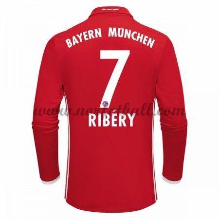 Billige Fotballdrakter Bayern Munich 2016-17 Ribery 7 Hjemme Draktsett Langermet