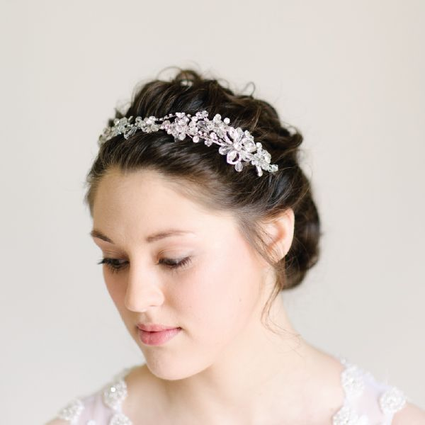 Cubic Zirconia Crystal Bridal Headpiece by Pearl & Ivory ®  - Find more inspiring bridal hair accessories from our collection www.pearlandivory.com/hair-adornments. Photography by Yolande Marx #PearlandIvory #HairAdornments #HairAccessories #BridalHeadpiece #Tiara #Headpiece #Cubic Zirconia
