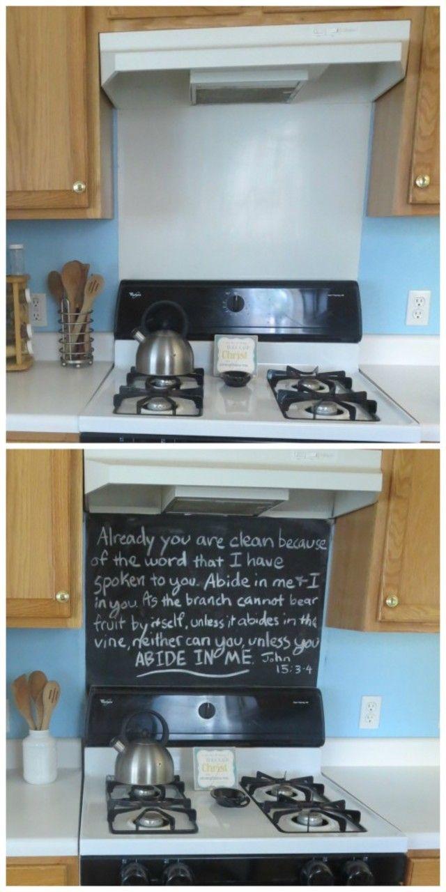 revamp your stove backsplash with chalkboard stove the