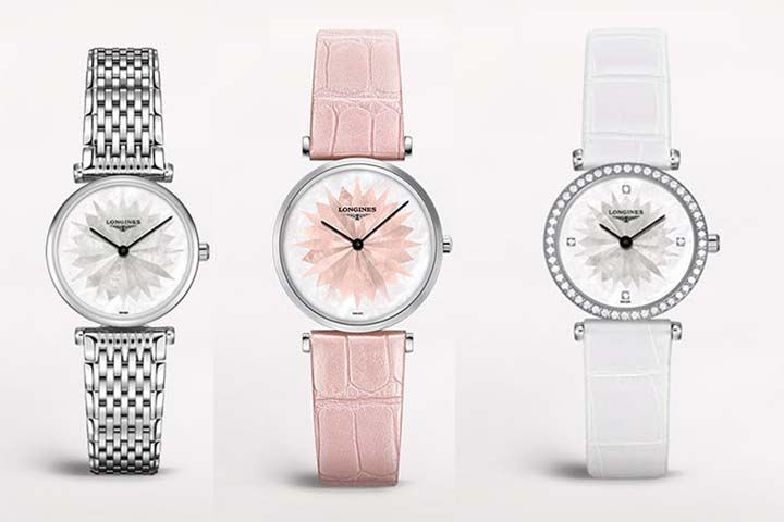 Longines de Longines watches are offered in 24 or 29mm sizes.