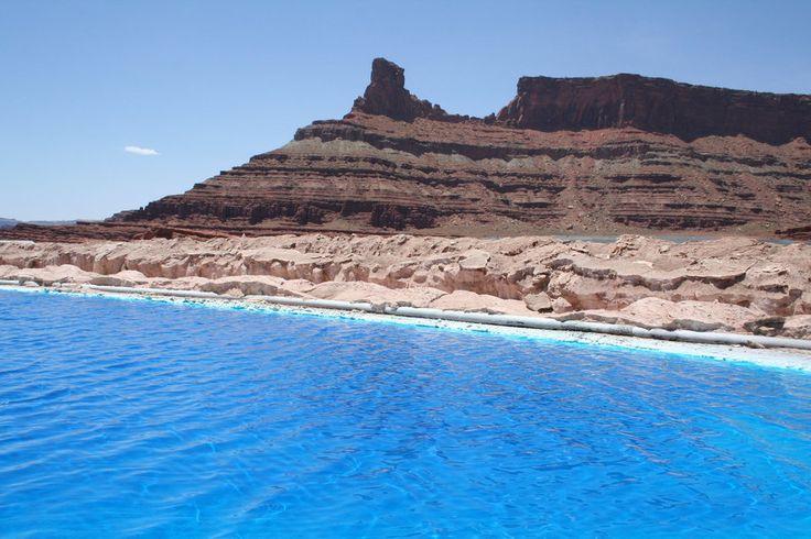 Permo-Triassic Redbeds, Potash Evaportation Ponds, near Potash, Utah