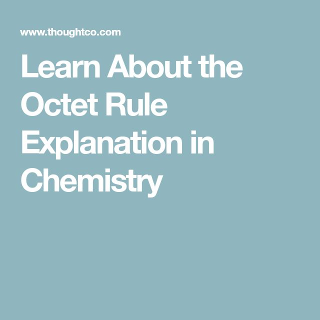Learn About the Octet Rule Explanation in Chemistry