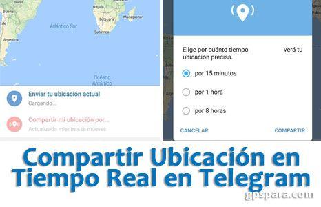 Compartir Ubicación en Telegram en Tiempo Real según te mueves #telegram #android #ios #moviles #geolocalización #gps #localización #ubicacion #mapas