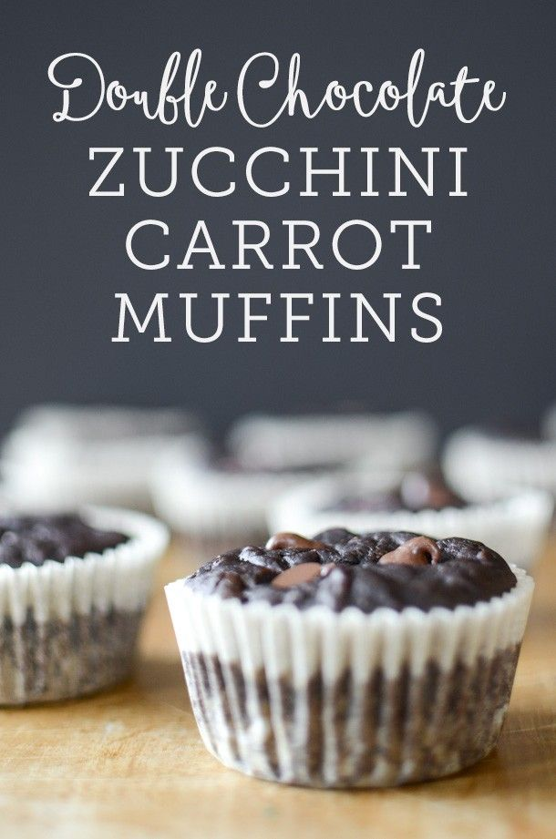 Double Chocolate Zucchini Carrot Muffins | dairy free | simplywhisked.com