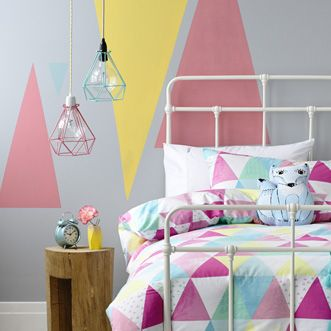 Kids Bedding Products & Accessories | Adairs Kids - very cute triangles everywhere