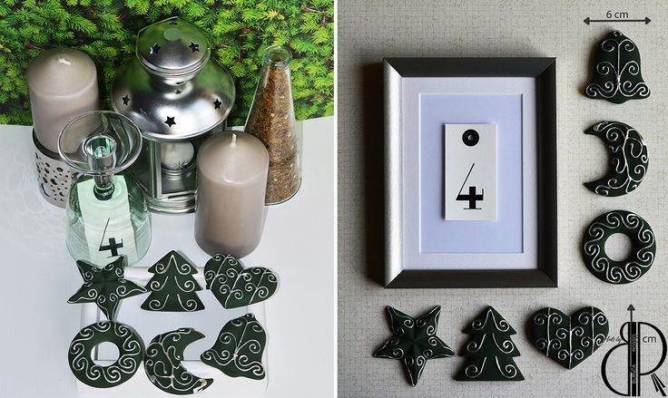 These Christmas hanging ornaments can be used for decorating: the Christmas tree, a wall, a frame ~HANDMADE~