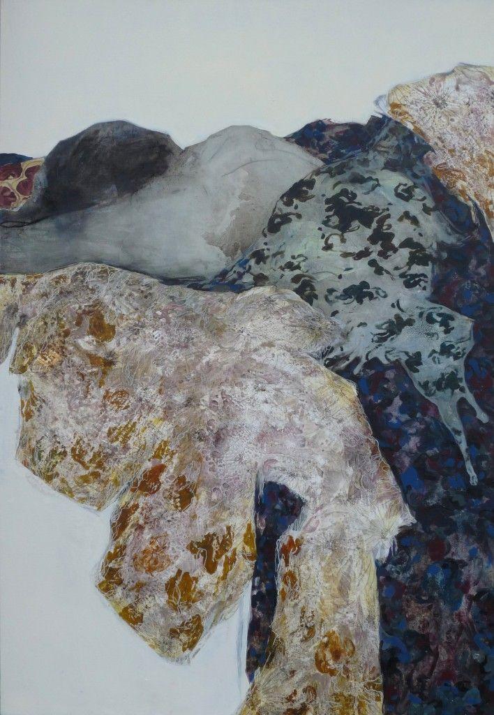 Florence Dussuyer, Marie-lou, technique mixte sur toile, 100 x 150 cm, 2015