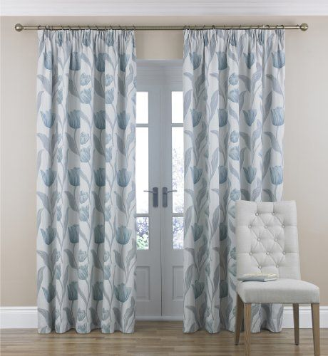 Tulip Jacquard Pencil Pleat Curtains Marks Amp Spencer