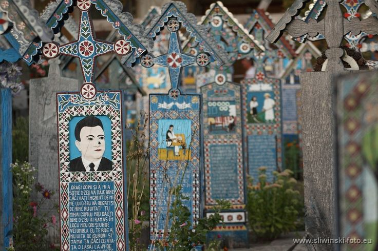 The Merry Cemetery in Sapant, Romania.