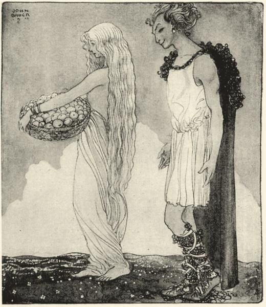 Loki and Idun, 1911 - John Bauer