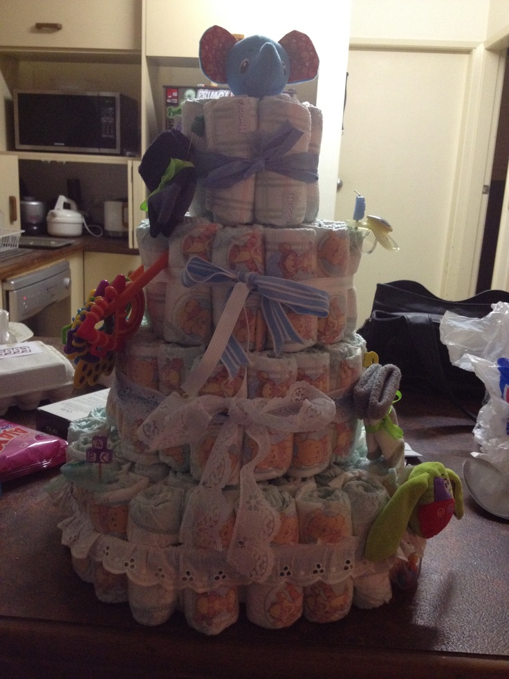 Made this nappy cake for a friends baby shower