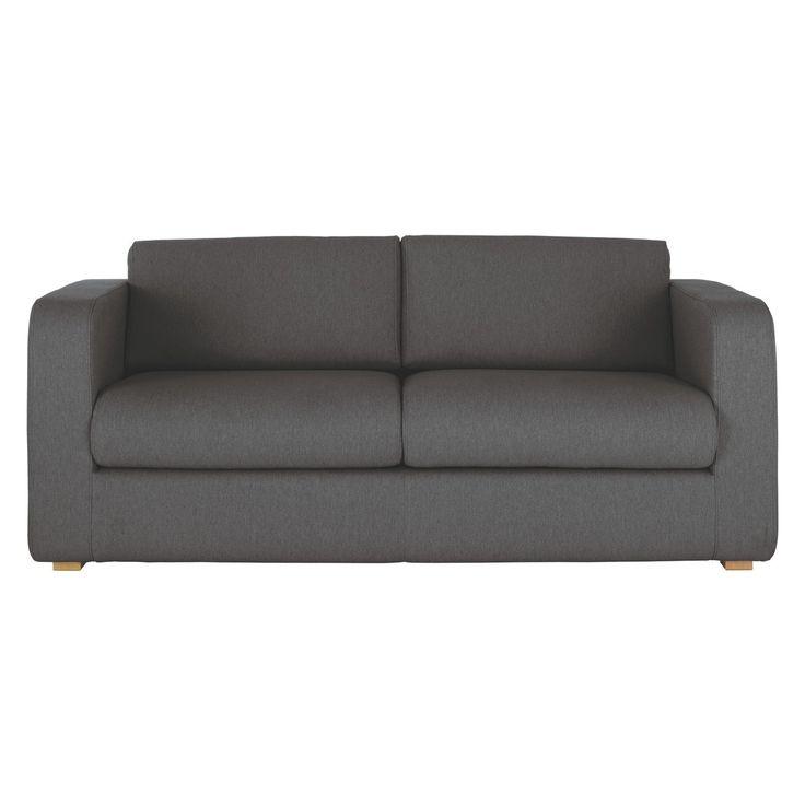 PORTO Charcoal fabric 3 seater sofa bed