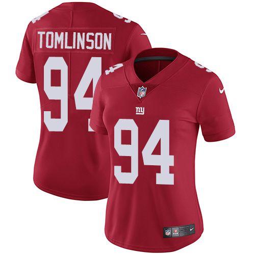 22 david wilson womens white nfl limited road jersey womens nike new york giants 94 dalvin tomlinson