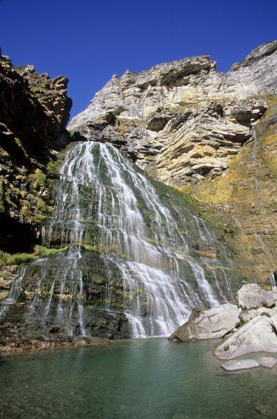 cascadas_españa  Cola de Caballo, Parque Nacional de Ordesa y Monte Perdido, Huesca / © Rafael Delgado.