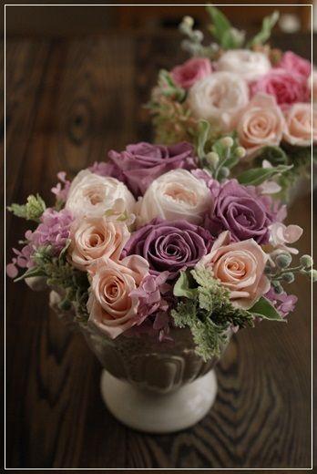『【今日の贈花】姉妹におそろいのアレンジを♪』 http://ameblo.jp/flower-note/entry-11771623322.html