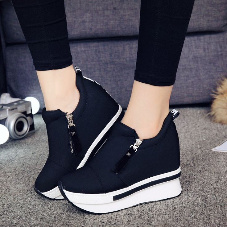 Sale 2017 New Wedges Women Platform Shoes Woman Creepers Slip On shoes Fashion Casual Women Creepers. Click visit to read descriptions
