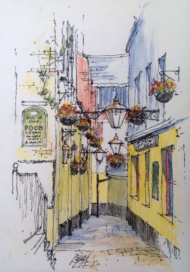 Ship Yard, Leeds .. Sketch !!!@@@@¡¡¡¡....http://www.pinterest.com/elianecarneiro/paisagens-3/
