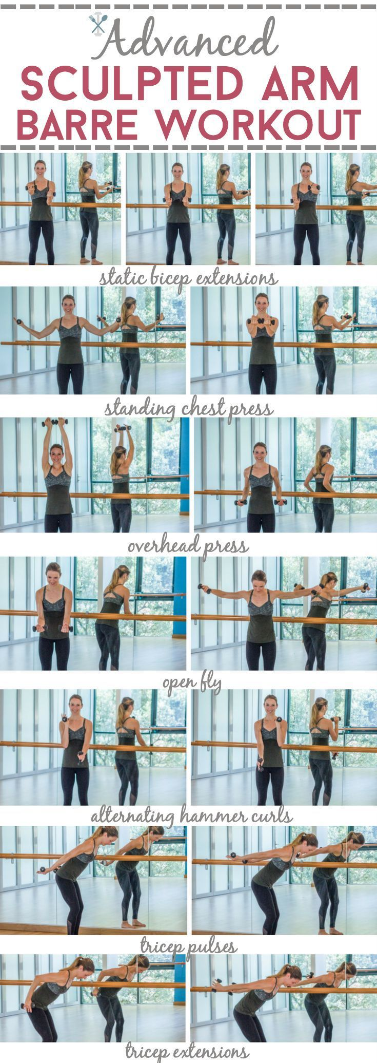 Advanced sculpted arm barre workout barre workout arm for Advanced home