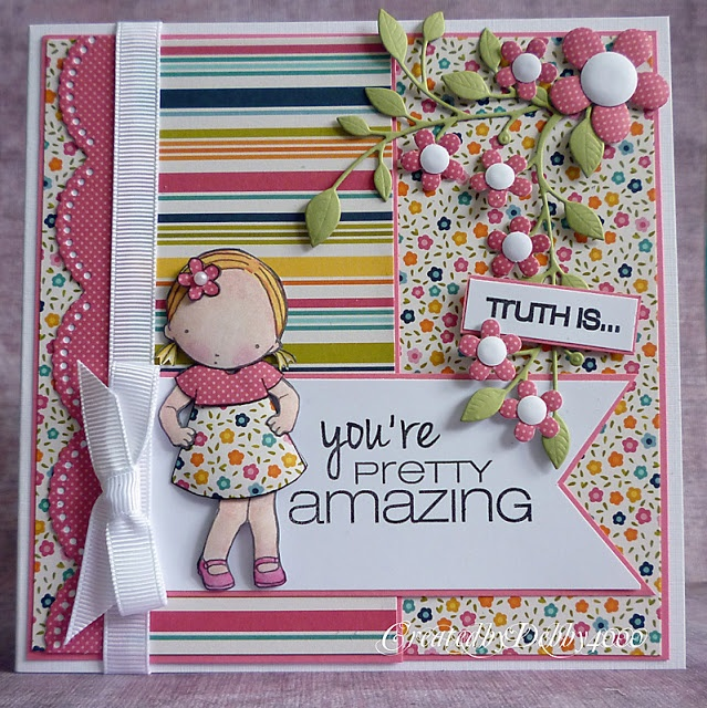 A ScrapjourneyCards Ideas, Pretty Paper, Cards Debbie, Stamps Sets, Flower Power, Cards Inspiration, Wonder Cards, Paper Crafts, Power Cards
