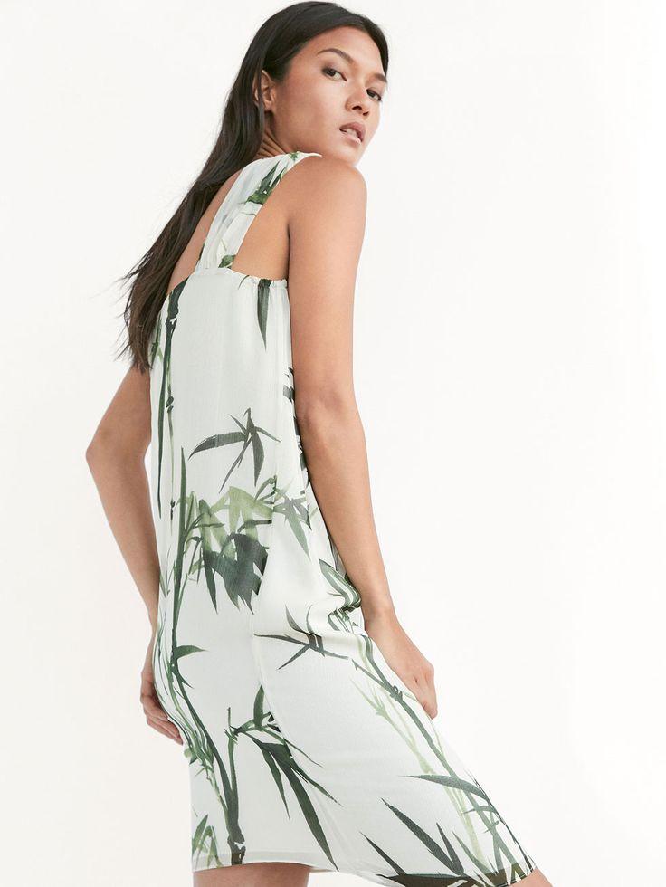 VESTIDO SEDA ESTAMPADO DETALLE NUDO de MUJER - Vestidos de Massimo Dutti de Primavera Verano 2017 por 79.95. ¡Elegancia natural!