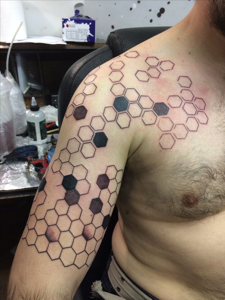 Pattern based on carbon fibre nanostructure arm tattoo by Travis Allen at twisted tattoo Yaxley  Www.twistedtattoo.co.uk  Or on Facebook