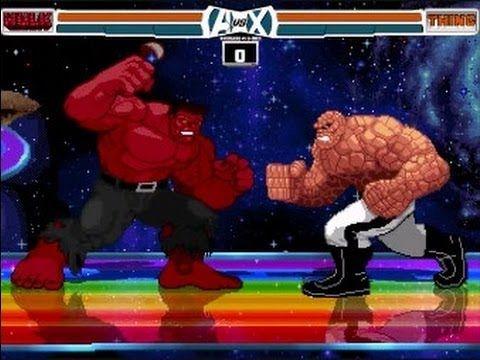 Red Hulk VS The Thing Avengers Fantastic Four Marvel Super Heroes Game