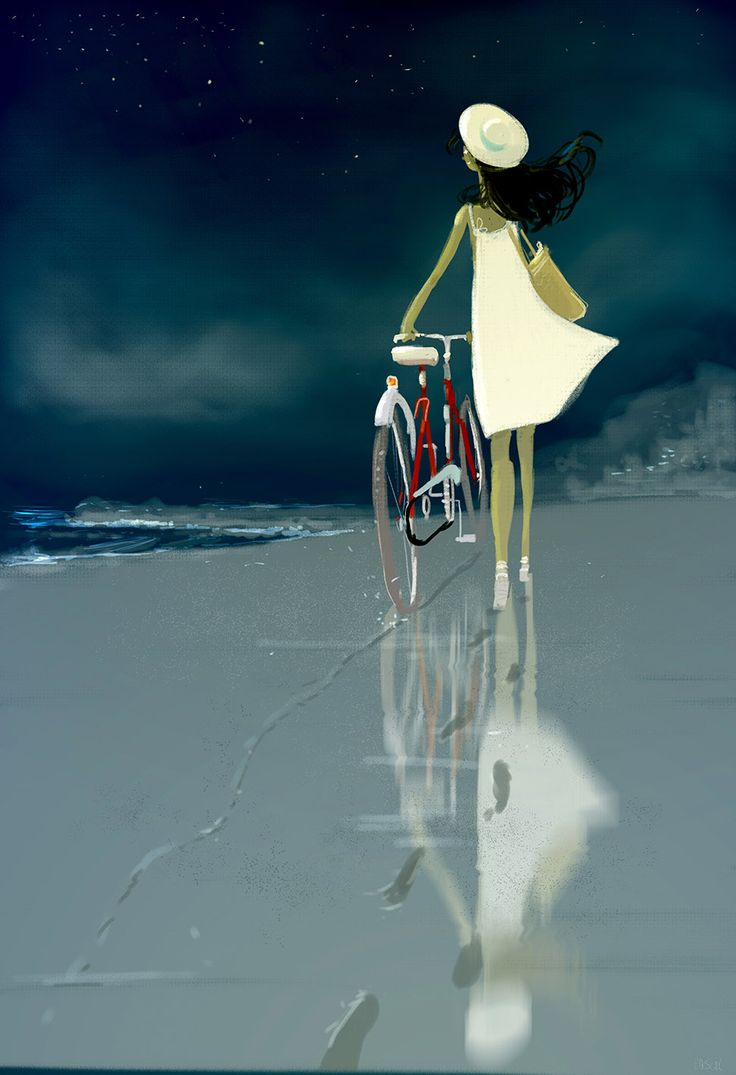 The shortcut by the beach. #pascalcampionart.