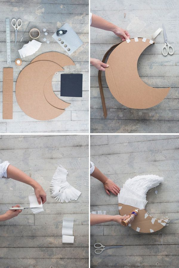 DIY: White Moon Decoration!   Art And Chic