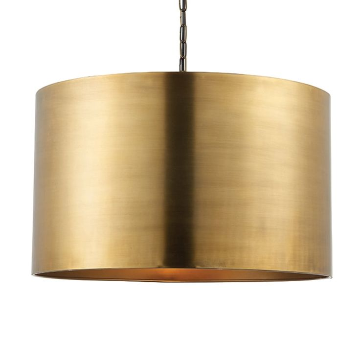 Morad Drum Pendant Light in Aged Brass