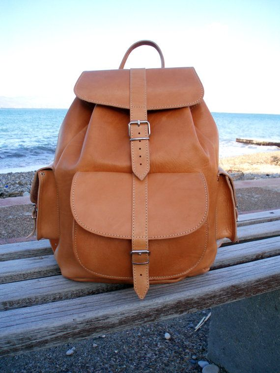 Extra Large Leather Backpack  Handmade Leather by MagusLeather