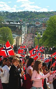 There will be lots of flags everywhere you look on 17 May - Photo: Nancy Bundt/Innovation Norway