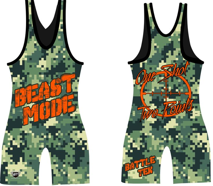 Battle Tek Beast Mode Singlets are made of 100% Polyester with a blend of 98% Lycra and 2% Spandex. The design is fully sublimated to ensure the best quality which will never fade, crack or peel. Battle Tek's singlets are built to last with triple titantium stitching, reinforced spandex crotch, and elastic bands around the leg. Matching MMA grappling shorts and Performance Tees are available for sale online as well.