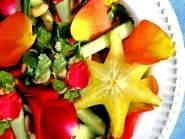 Rose Petal Salad w/Star Fruit (Carambola)