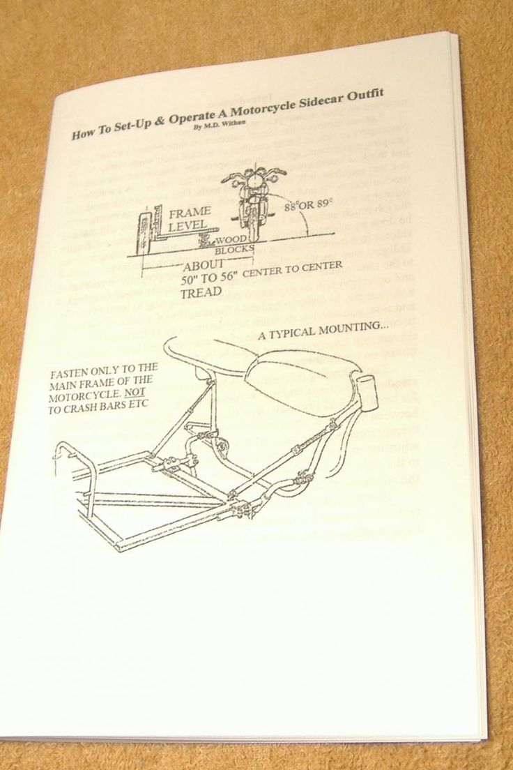 How to Set-Up a Motorcycle Sidecar Outfit Manual