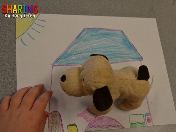 Sharing Kindergarten: After bring in small stuffed animals from home, we designed homes for our pets. This was a HUGE hit to wrap up our week of Pet learning.