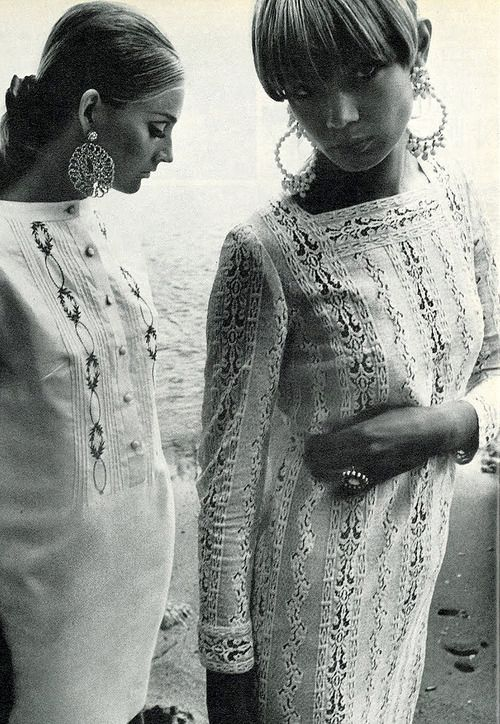 Photo by Helmut Newton, 1966. beautiful, i'd wear either one of these in a heartbeat.