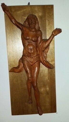Cristo resucitado - Talla sobre madera