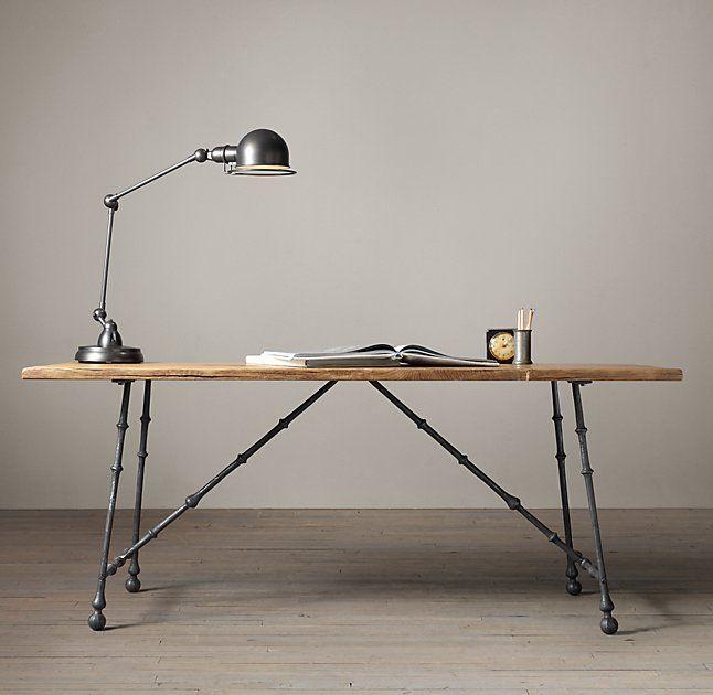 Oak & Iron Craftsman Desk